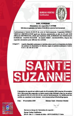 Attestation sainte suzanne