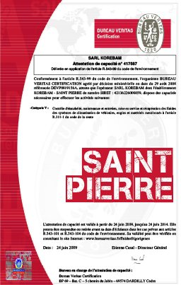 Attestation saint pierre